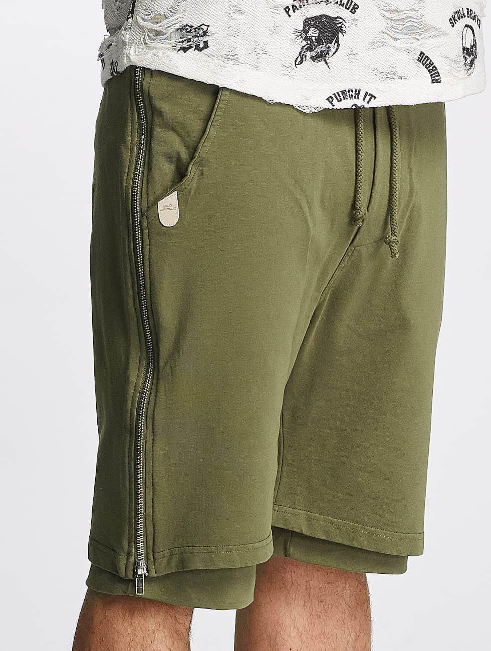 Red Bridge shorts Two Layers olijfgroen