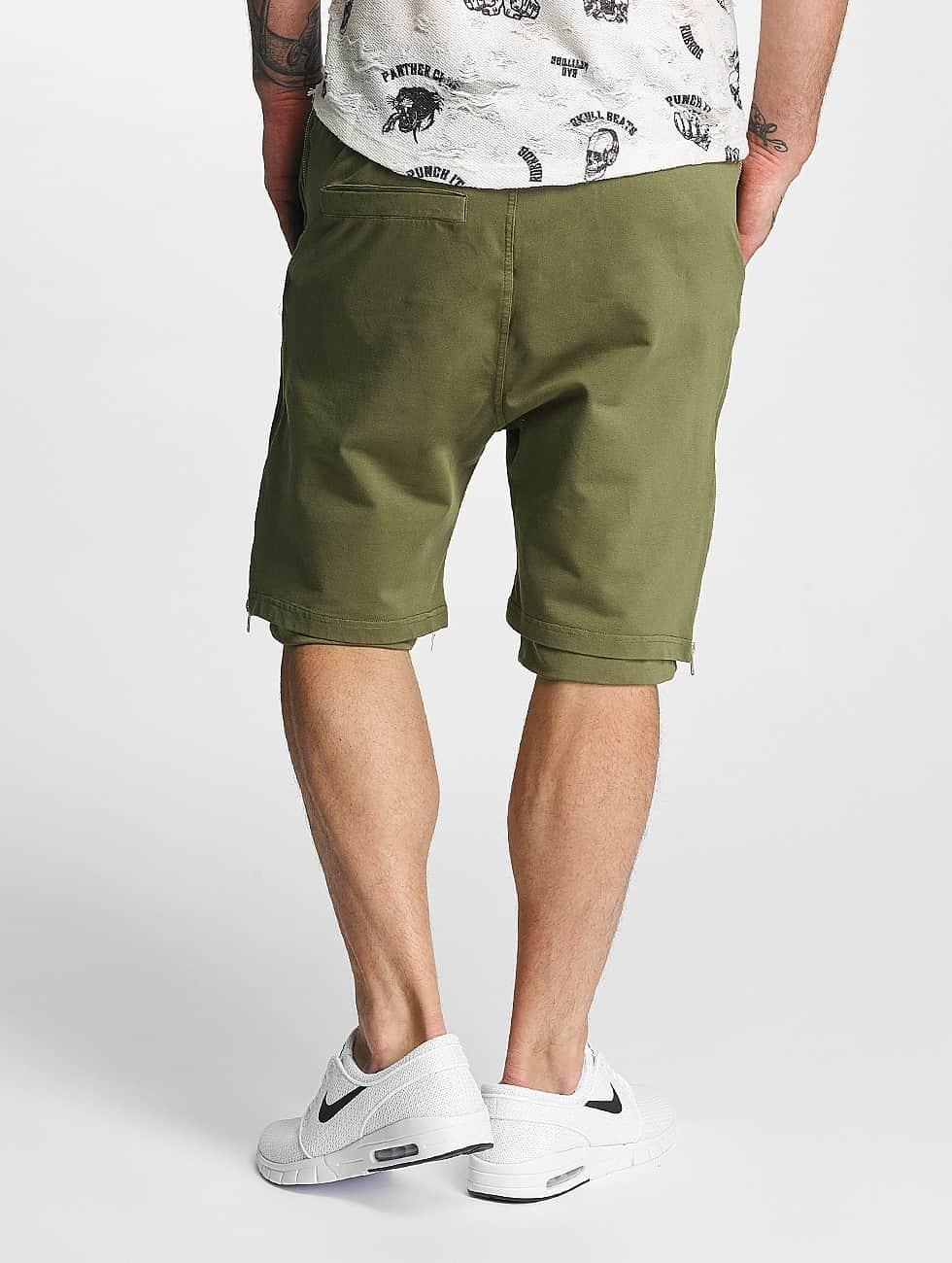 Red Bridge Shorts Two Layers oliva