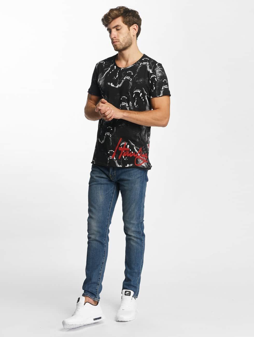 Red Bridge T-Shirt Howling Wolf black