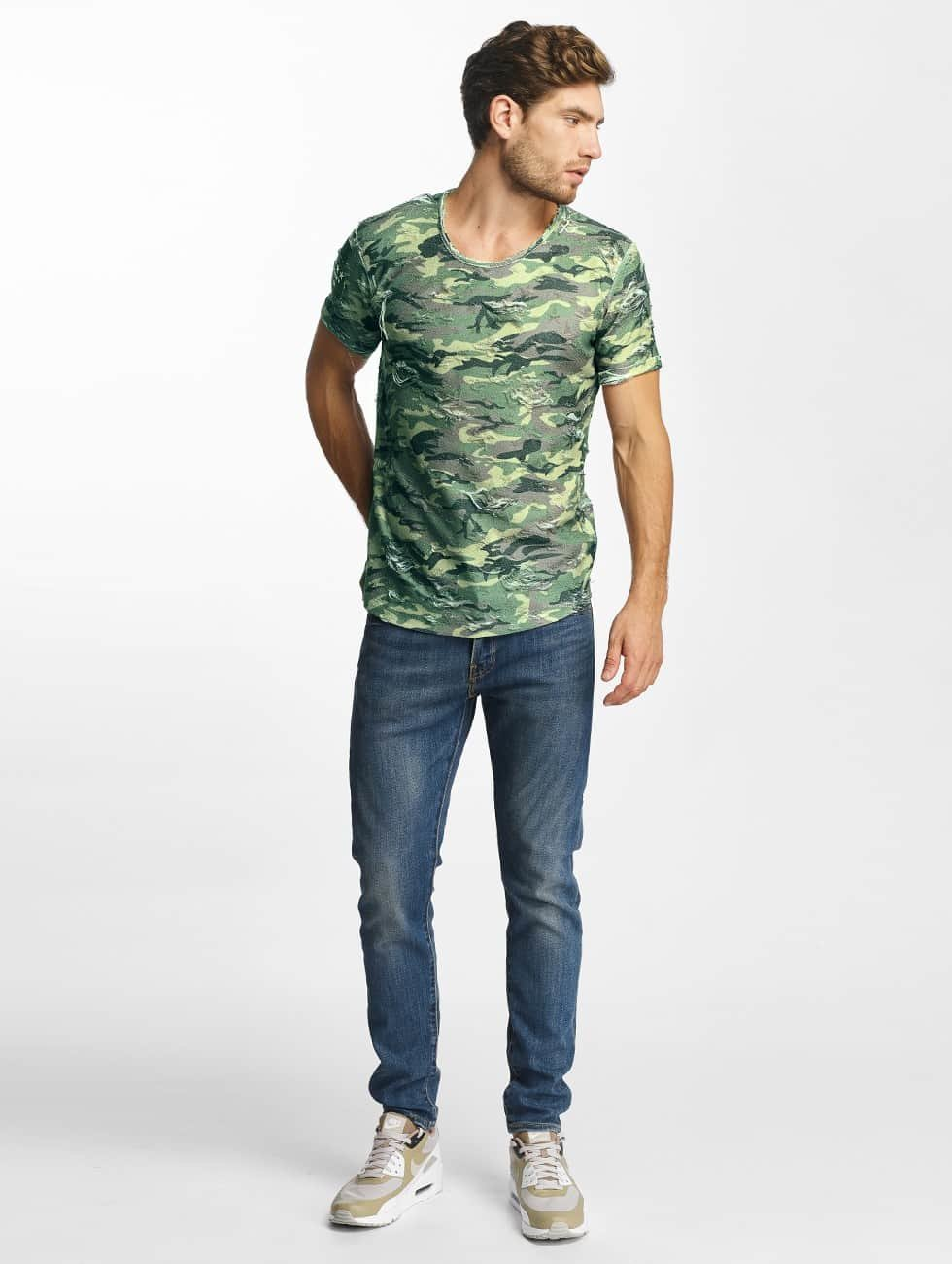 Red Bridge T-Shirt Destroyed camouflage