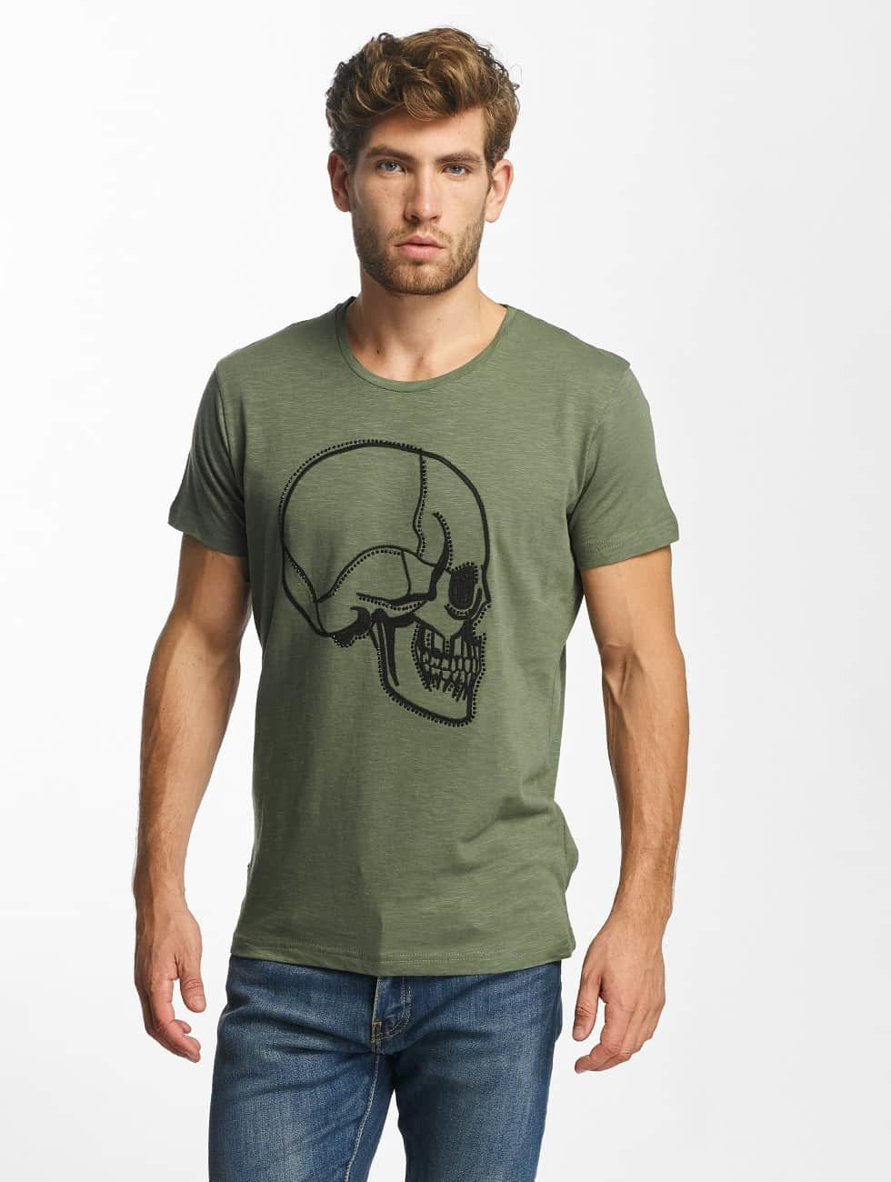Red Bridge T-Shirt Stiched Skull kaki