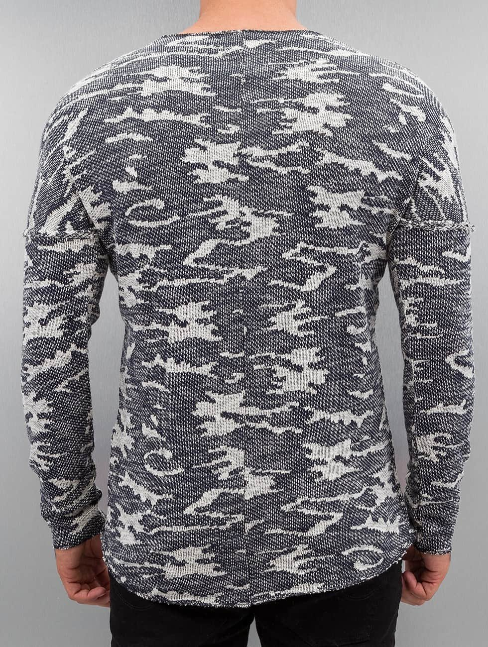 Red Bridge trui Knit Camo blauw