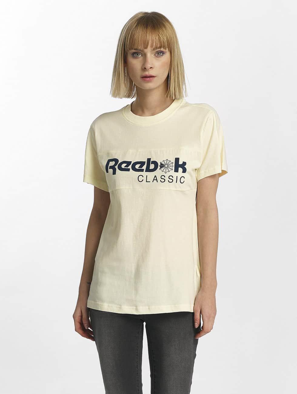 Reebok T-Shirty F Classic bialy