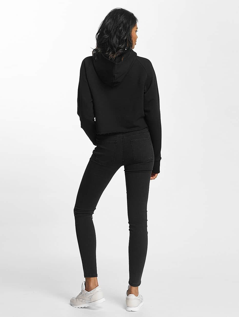 Shisha  Felpa con cappuccio Cropped nero