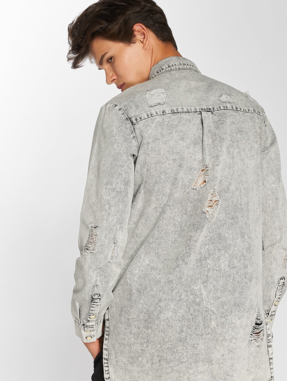 Sixth June Camisa Destroyed gris