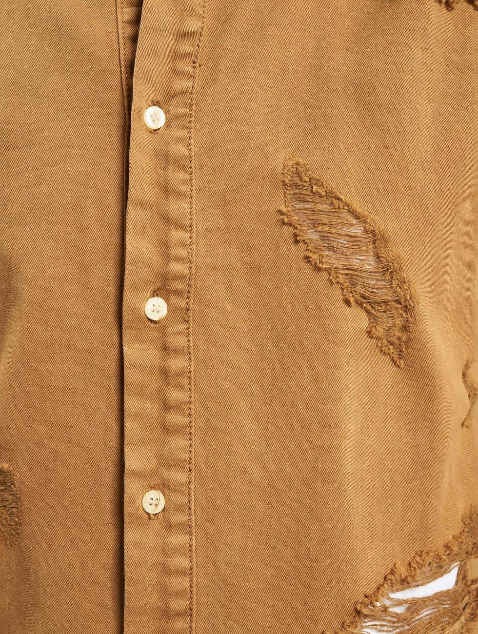 Sixth June Hemd Destroyed Desert beige