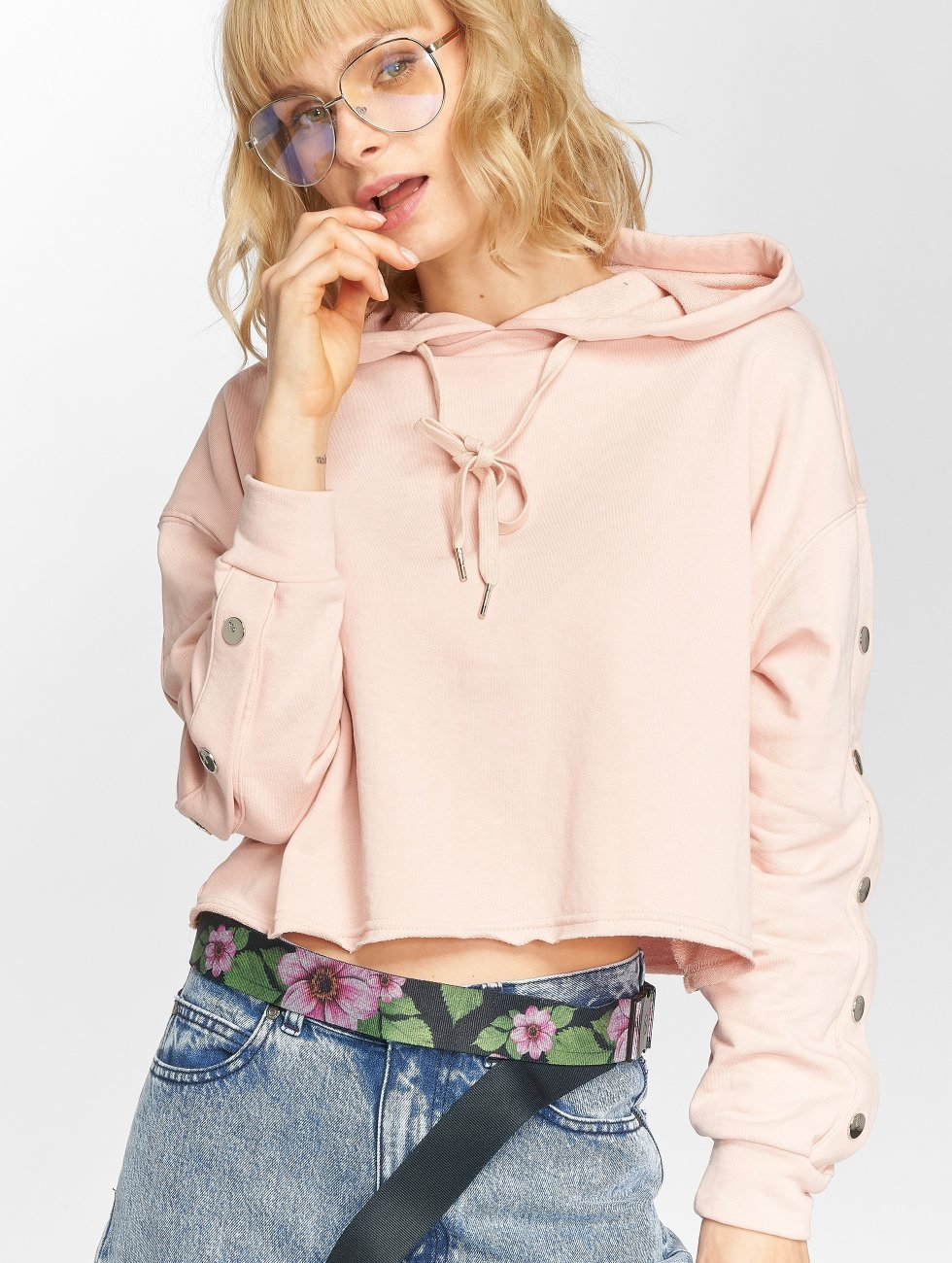 Sixth June Hoodie Button rose