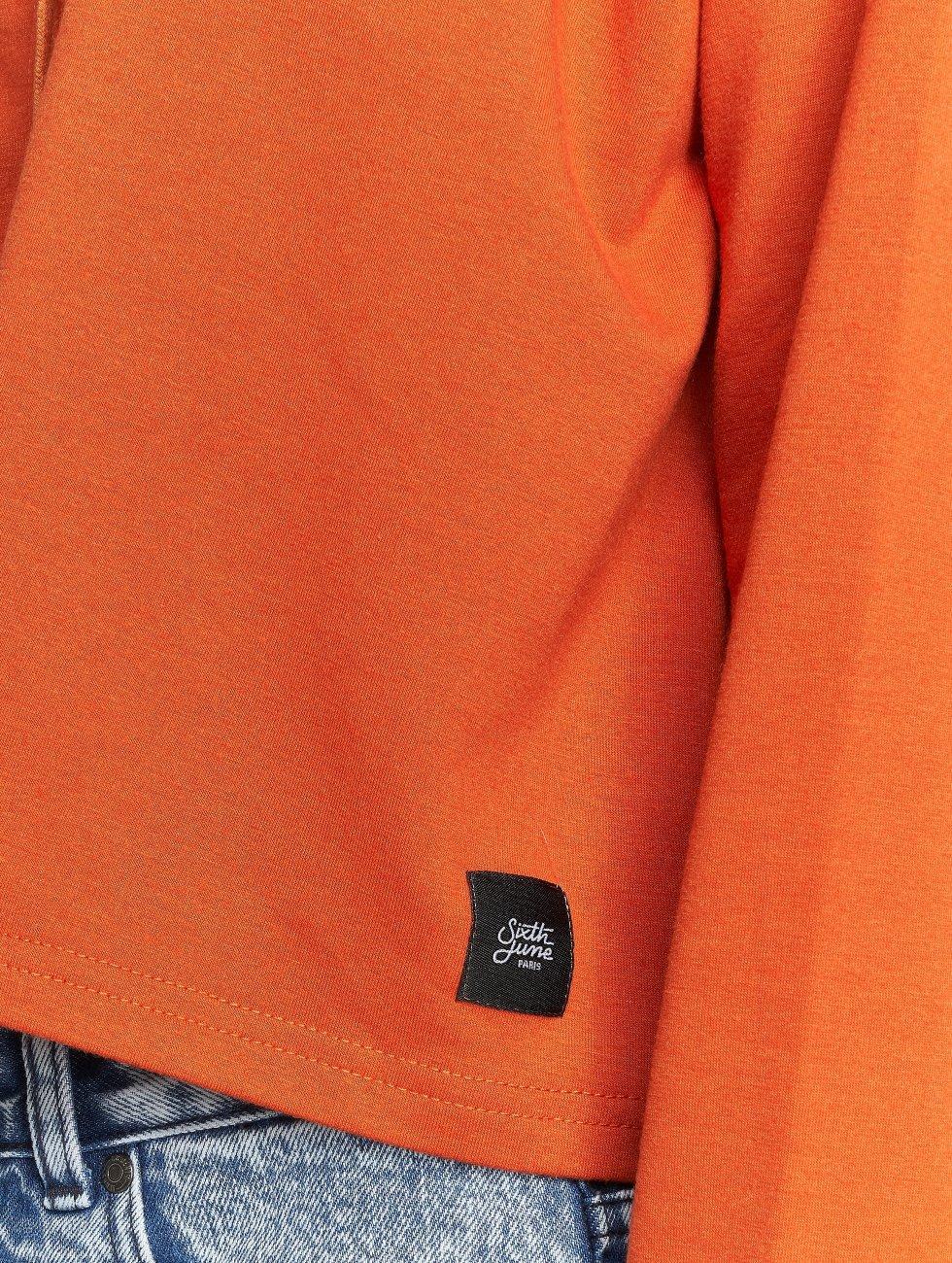 Sixth June Hoodies Ultra Oversized oranžový