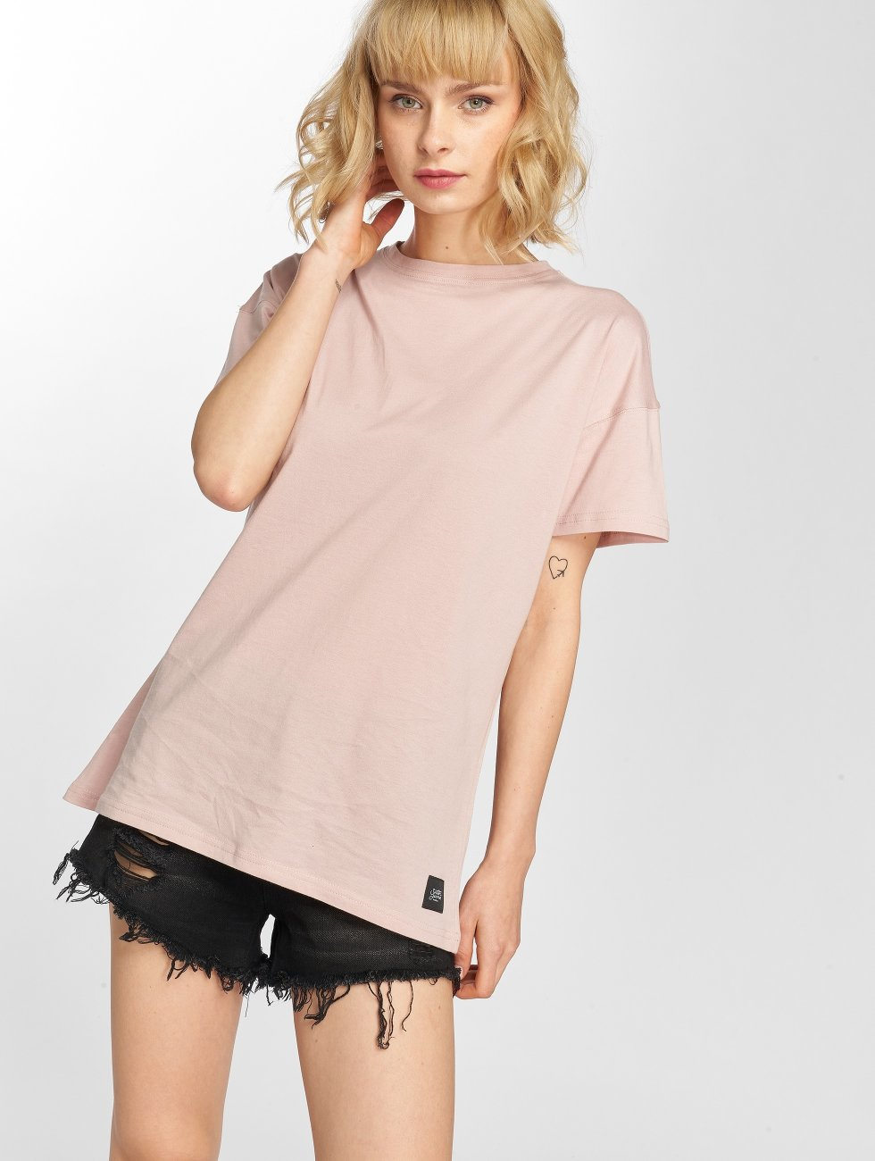Sixth June T-shirt Classic Oversize rosa chiaro