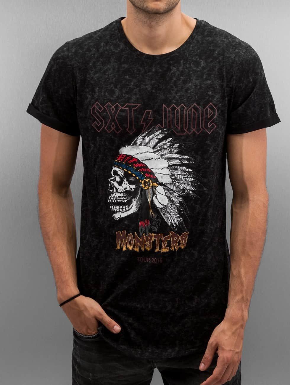 Sixth June t-shirt Rounded Bottom Acid zwart