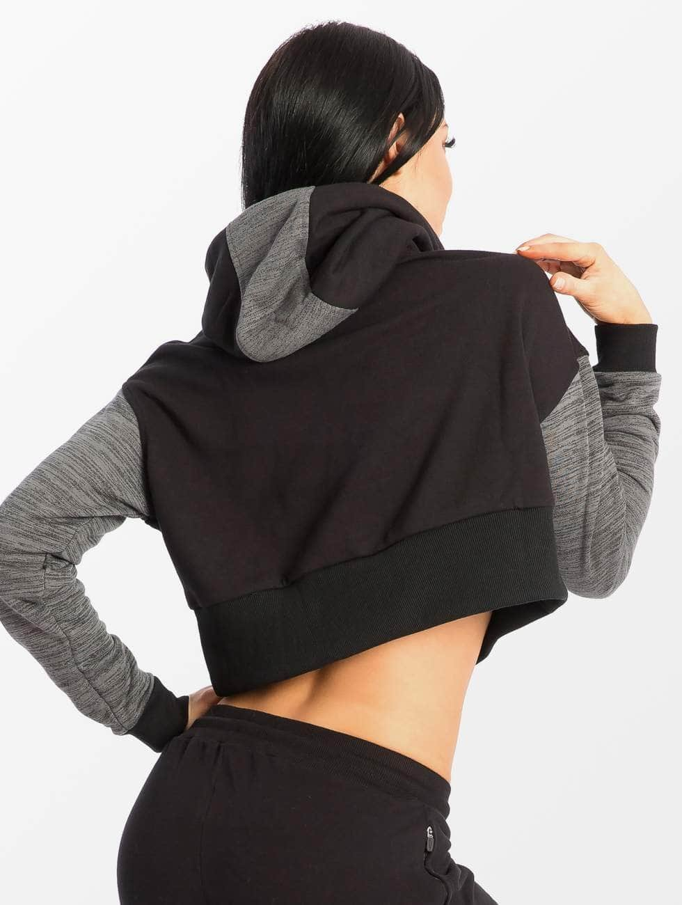 Smilodox Sweat capuche Flawless Cropped noir