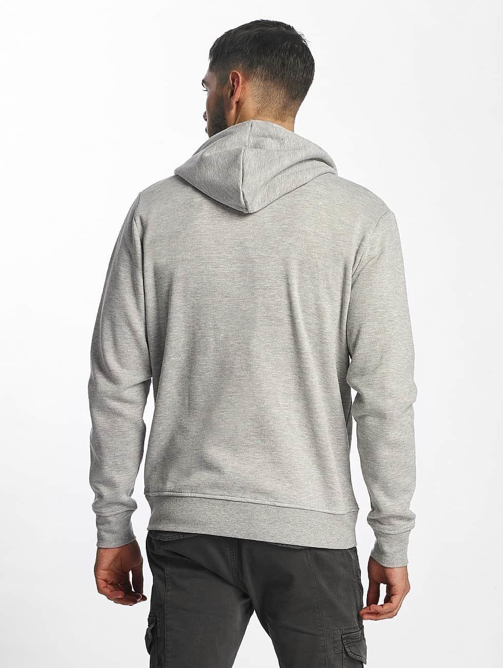 Solid Zip Hoodie Deacon grey