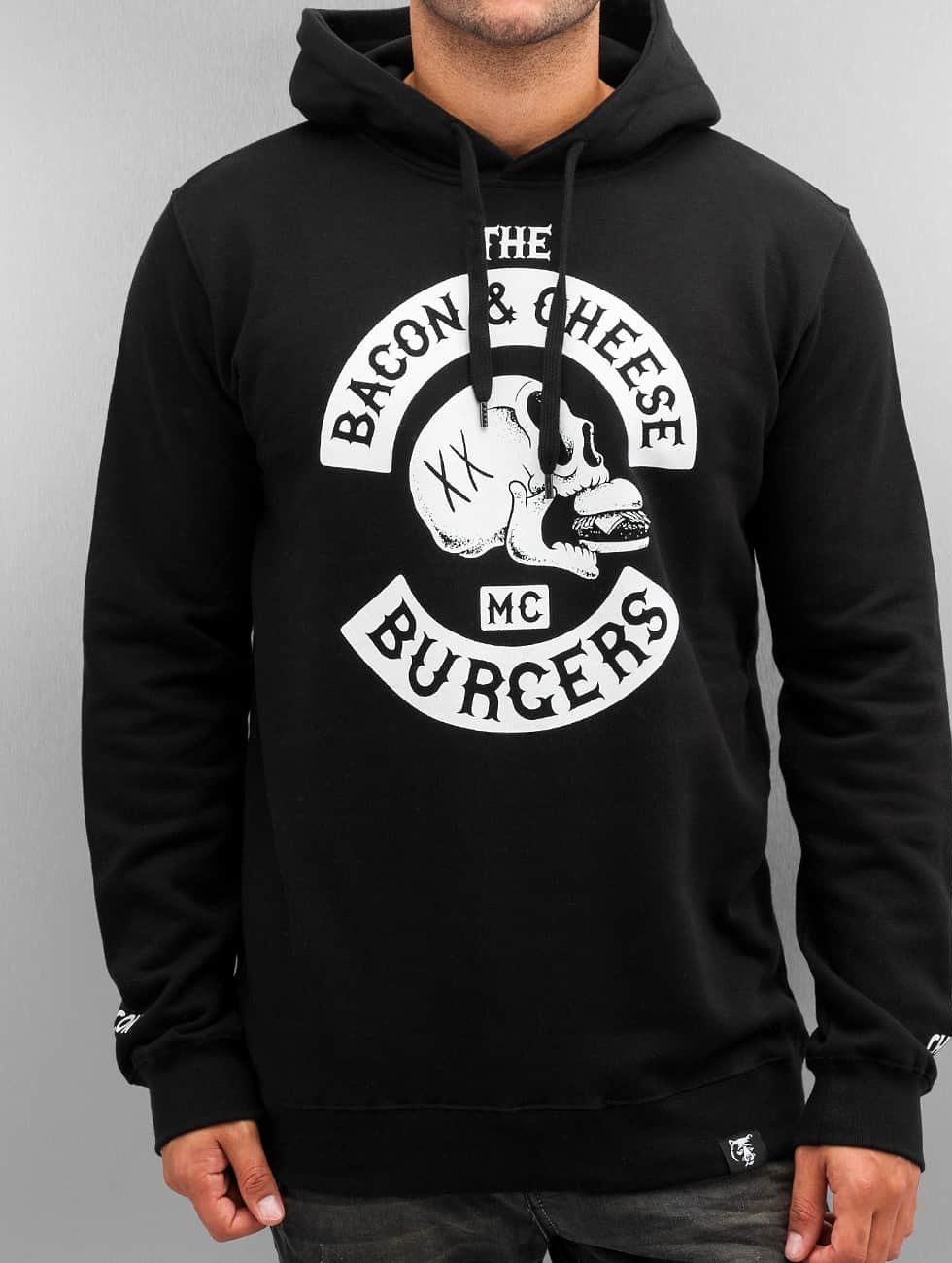 The Dudes Hoodie Bacon Cheese Burgers black