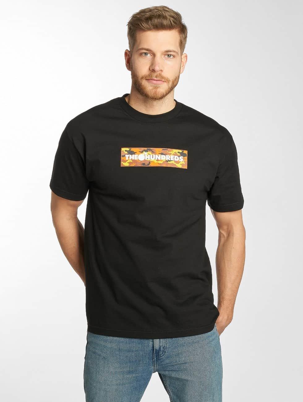 The Hundreds t-shirt Camo Bar zwart