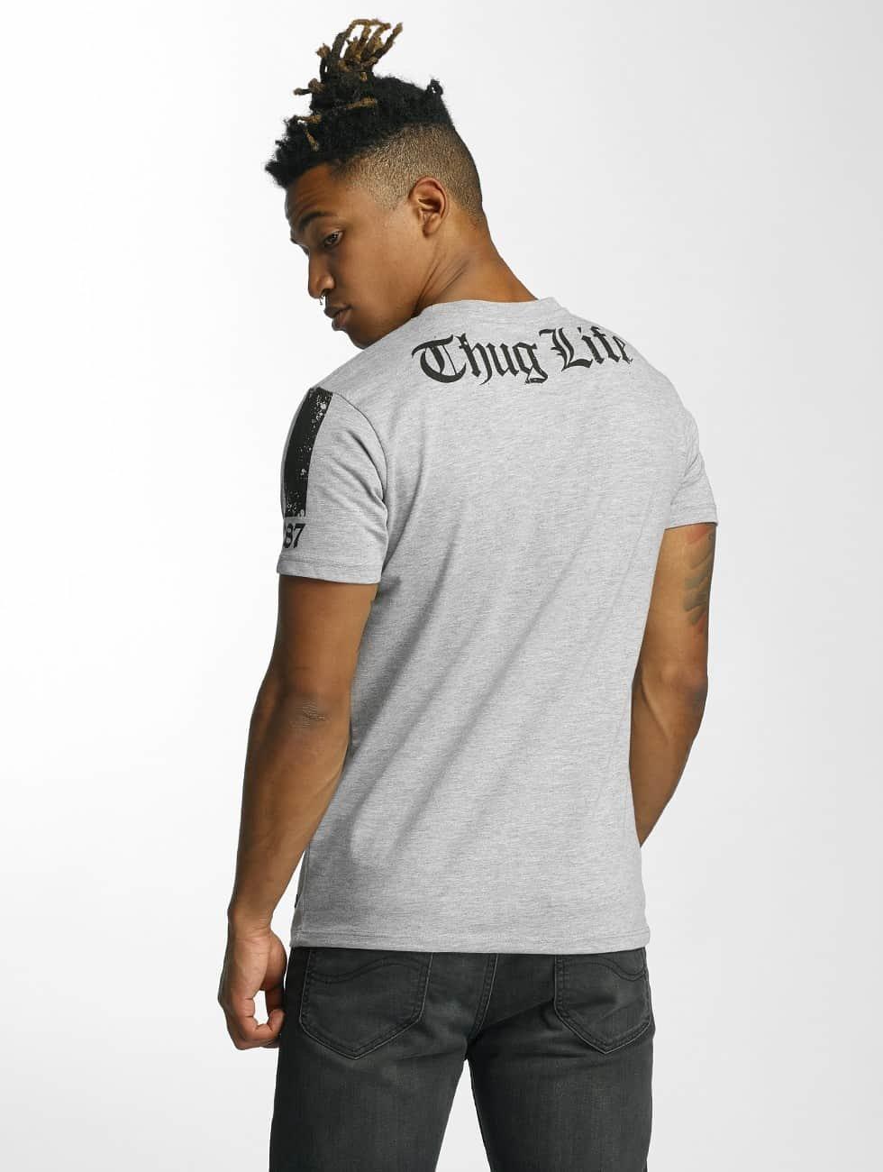 Thug Life T-Shirt Blind grey