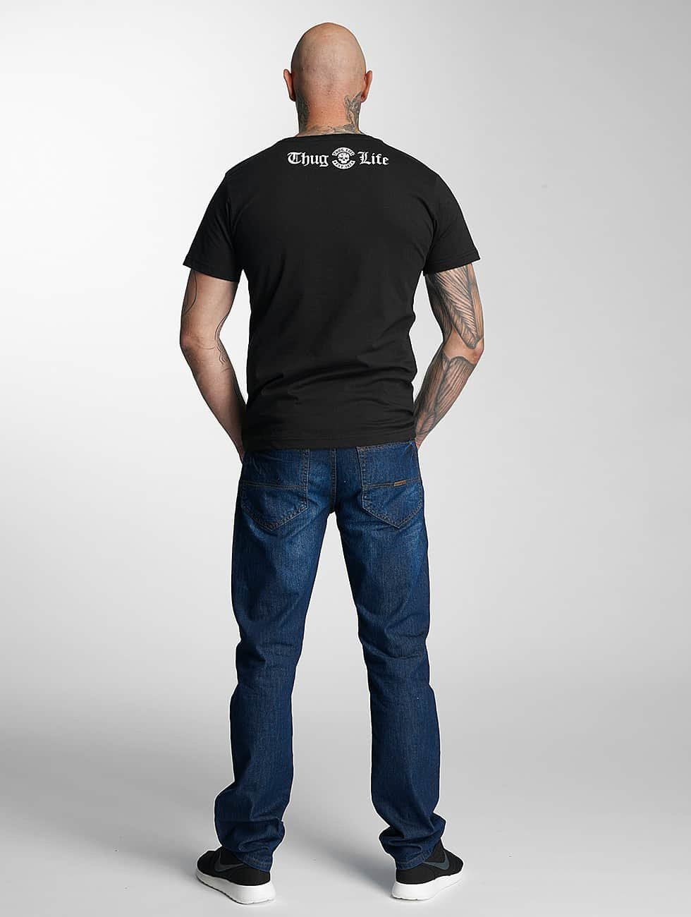 Thug Life T-Shirt 187 schwarz