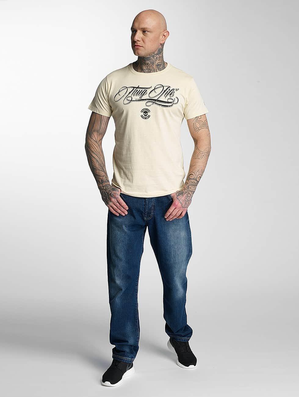 Thug Life T-Shirty Kursiv bezowy