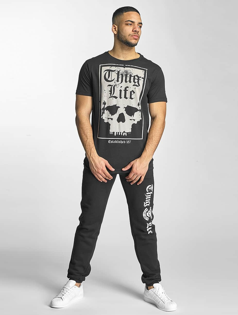 Thug Life T-skjorter Established 187 svart