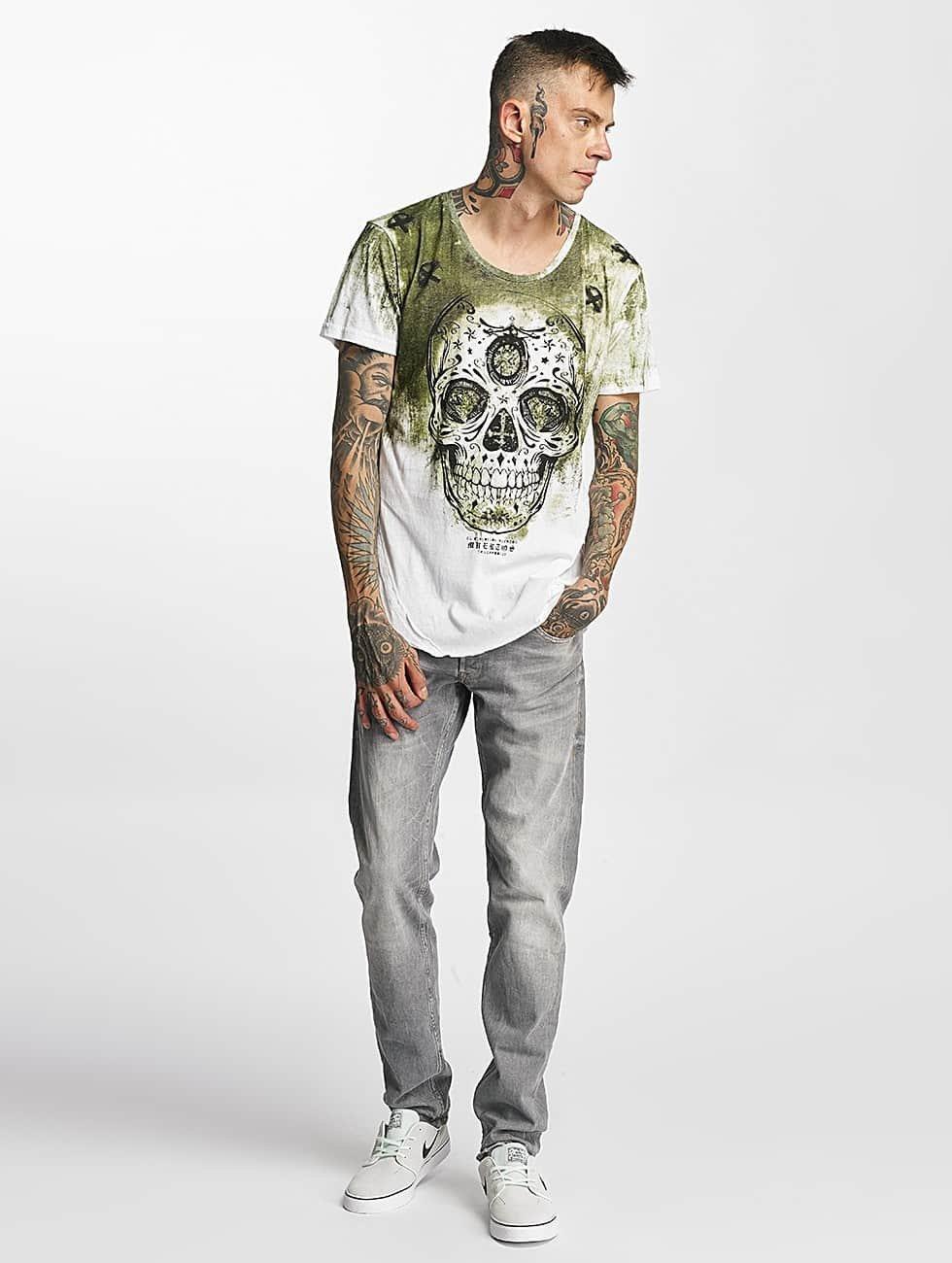 trueprodigy T-Shirty Skull zielony