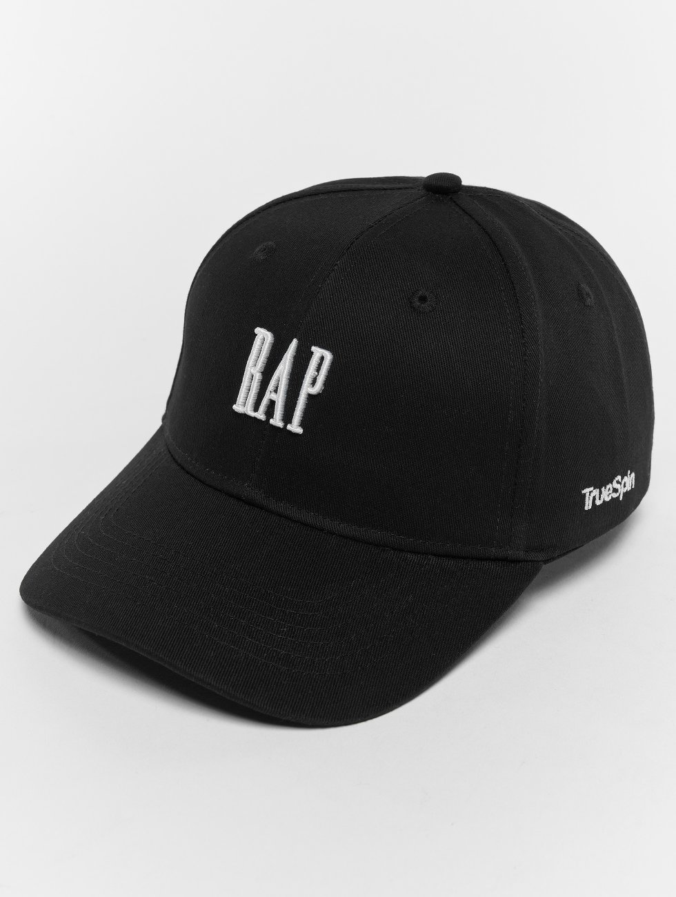 TrueSpin Snapback Cap Curved schwarz