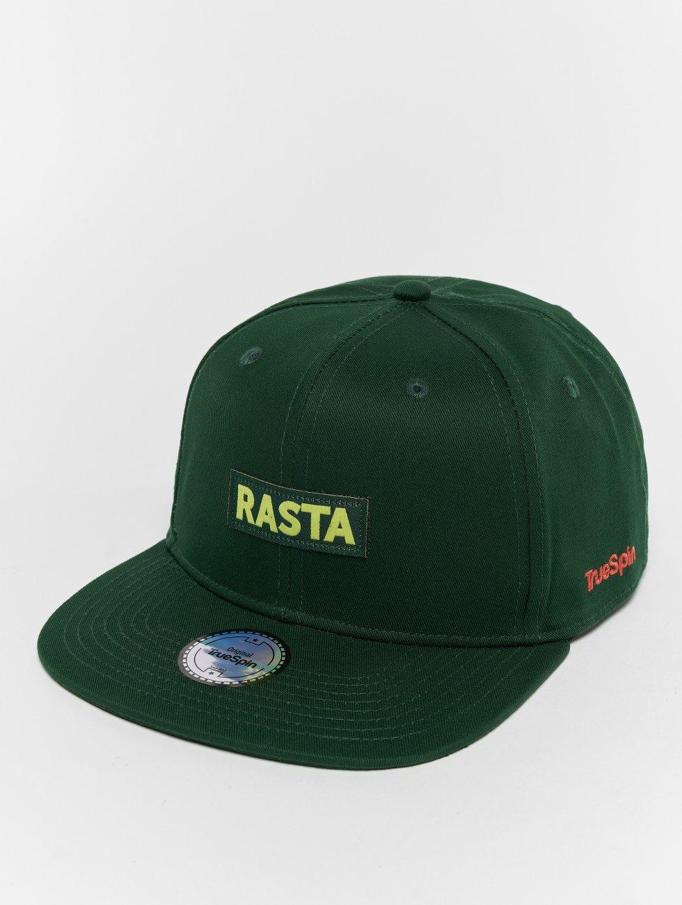 TrueSpin Snapback Caps Rasta grøn