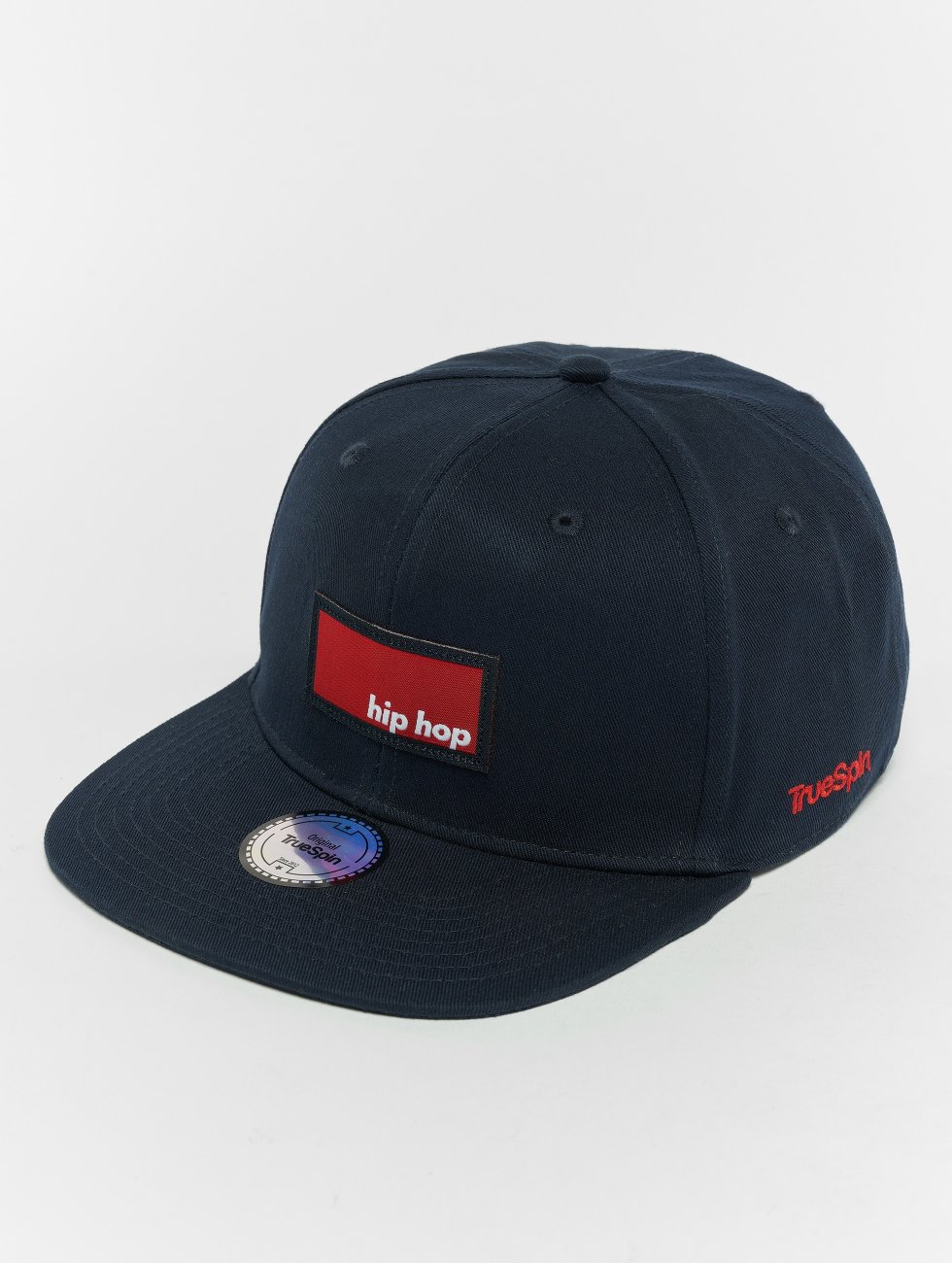 TrueSpin Snapback Caps Hip Hop modrý