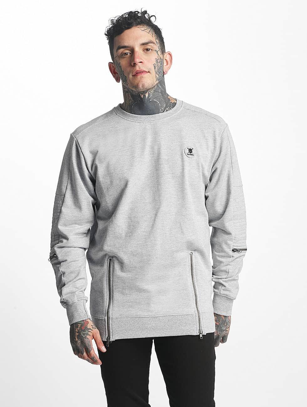 Tuffskull Пуловер buffalo серый