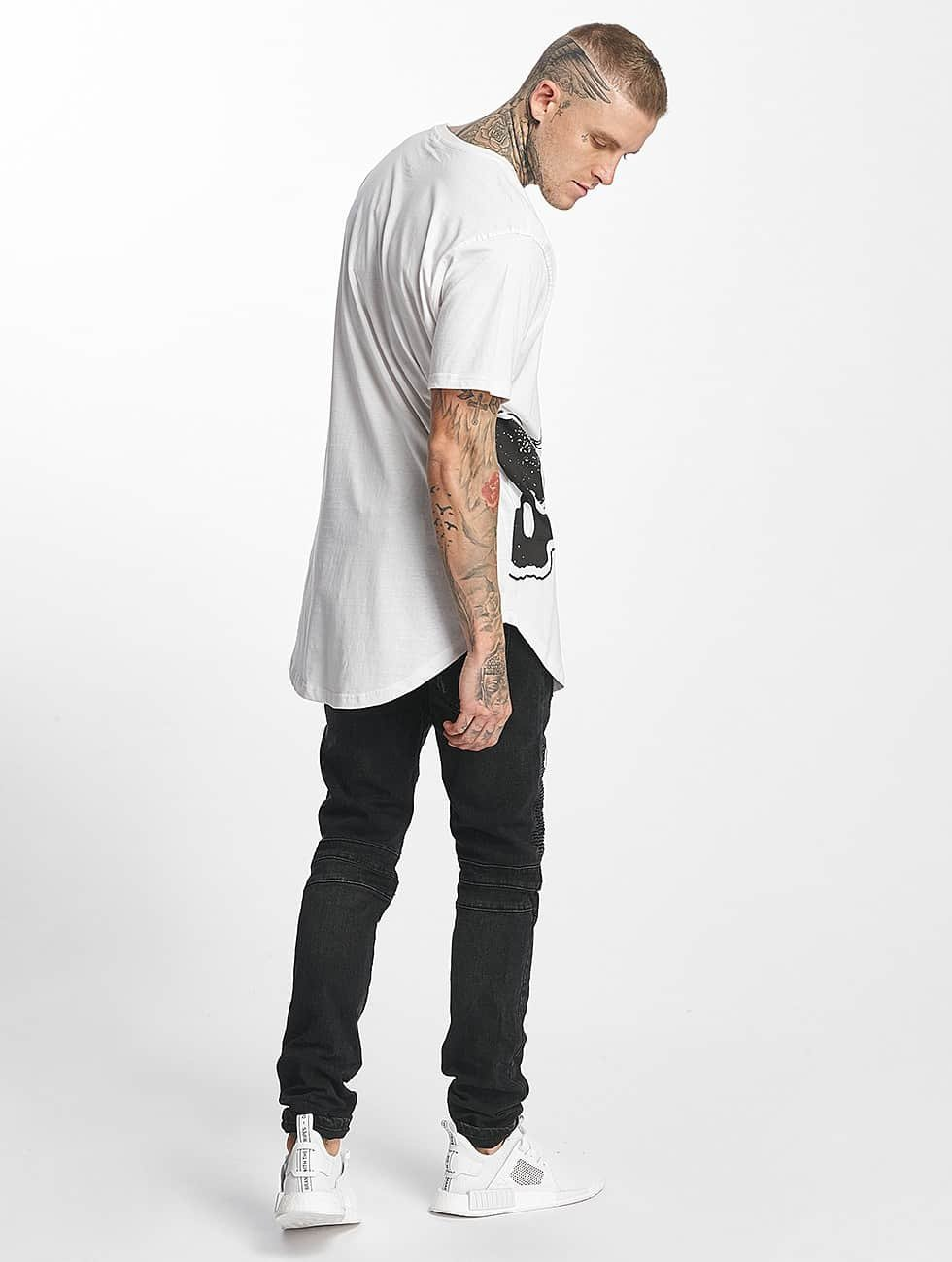 Tuffskull T-Shirt BIGSKULL Long white