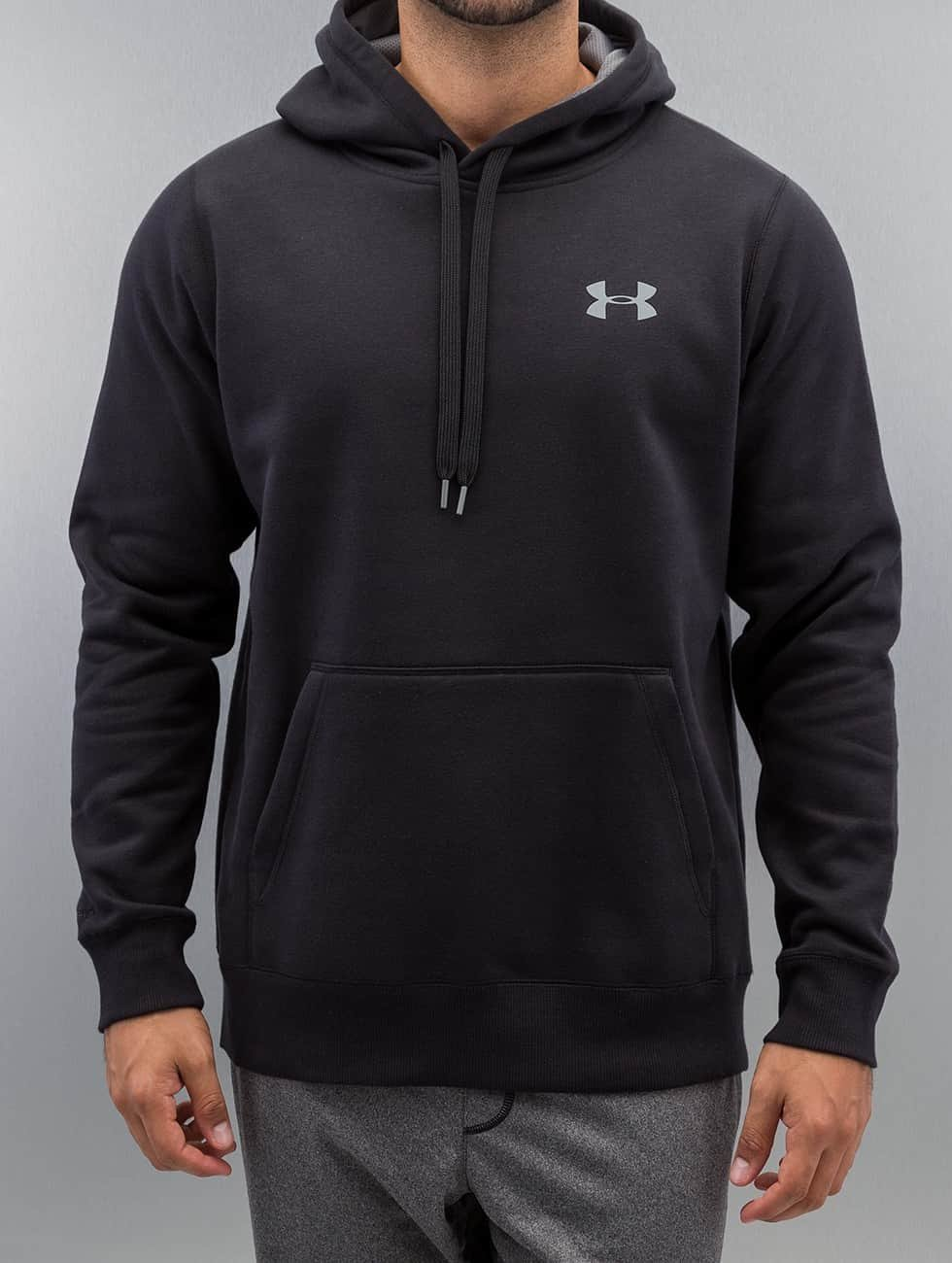 Under Armour Hoody Storm Rival Cotton zwart