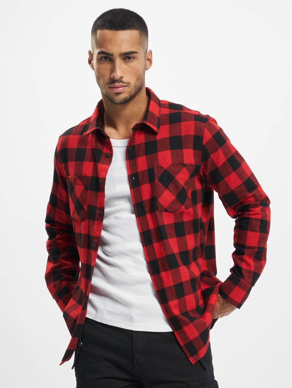 Urban Classics Рубашка Checked Flanell красный