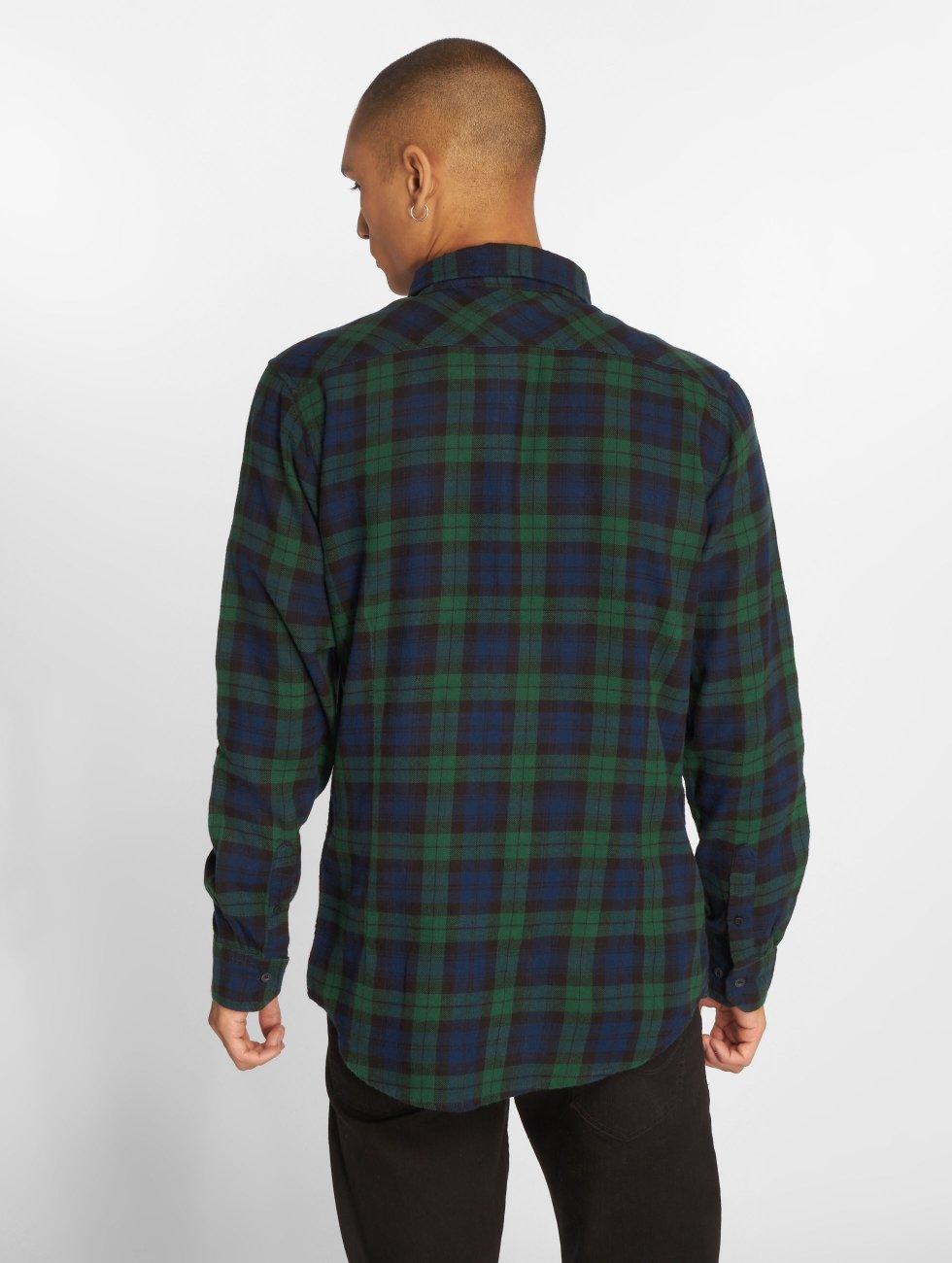 Urban Classics Рубашка Checked Flanell 3 синий