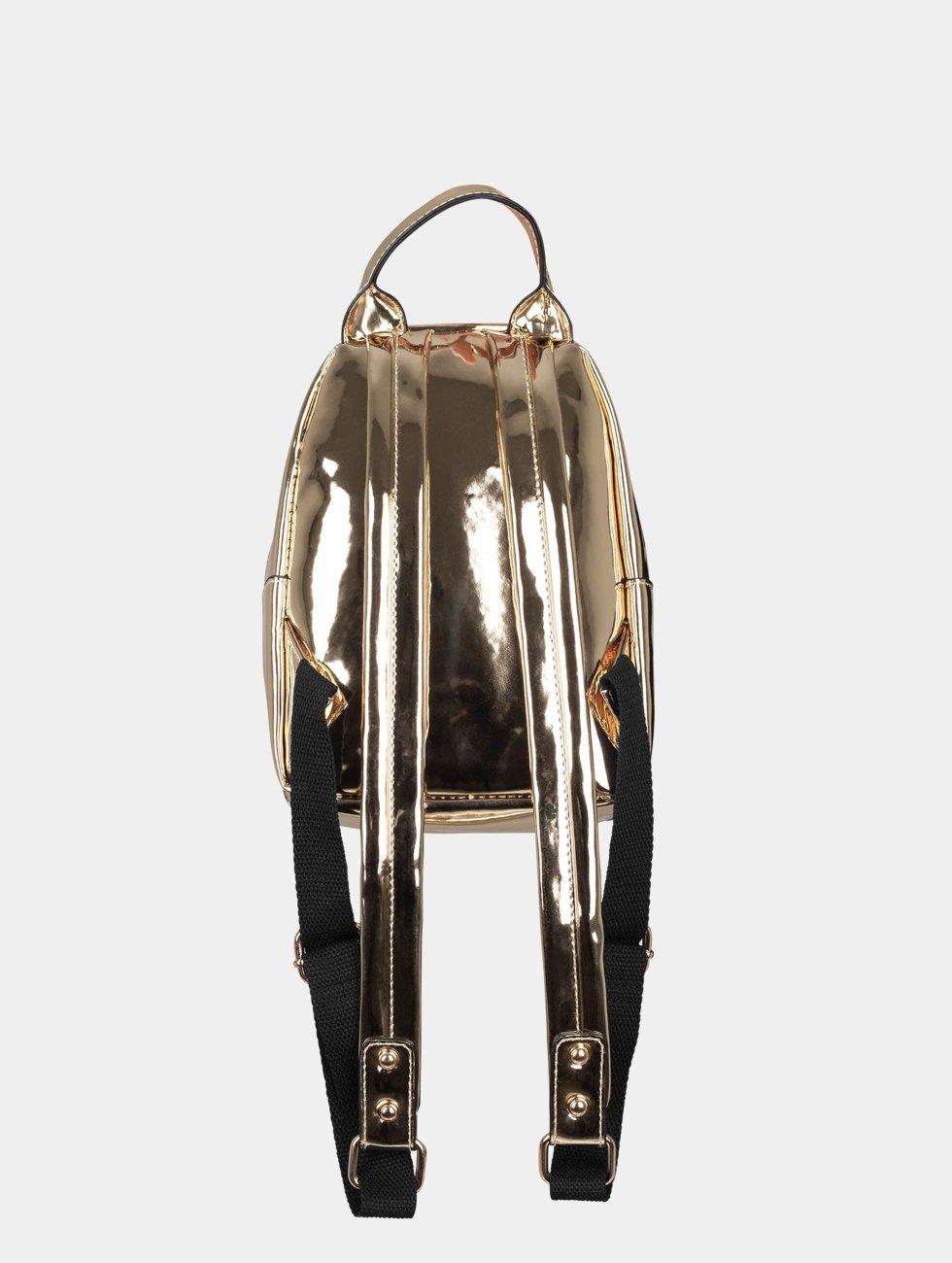 Urban Classics Backpack Midi Metallic gold colored