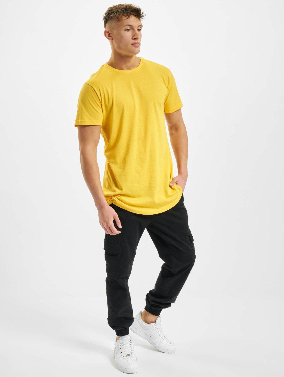 Urban Classics Camiseta Shaped Oversized Long amarillo