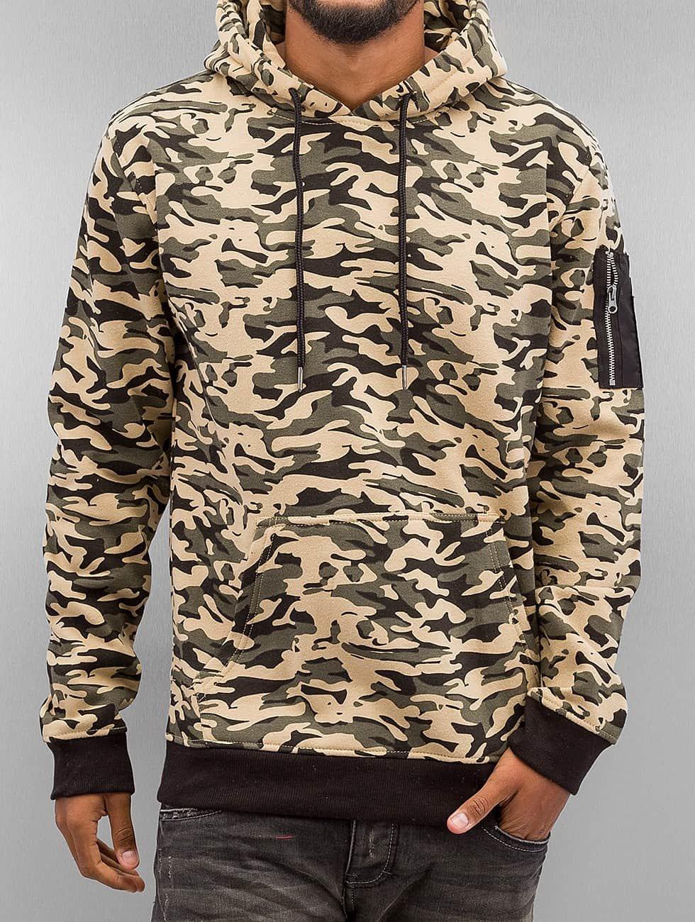 Urban Classics Hoody Sweat Camo Bomber camouflage