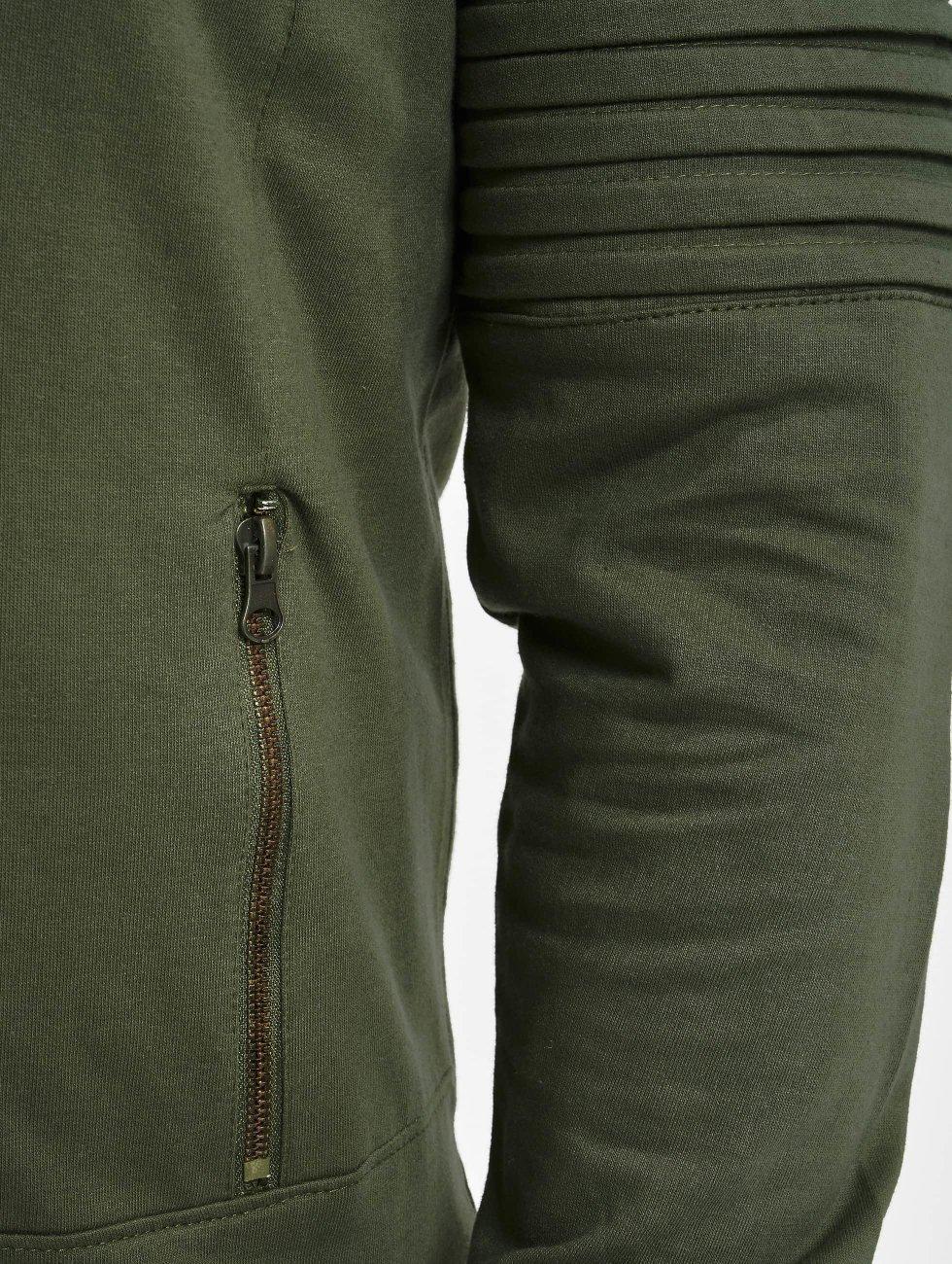 Urban Classics Hoody Pleat Sleeves Terry HiLo olijfgroen
