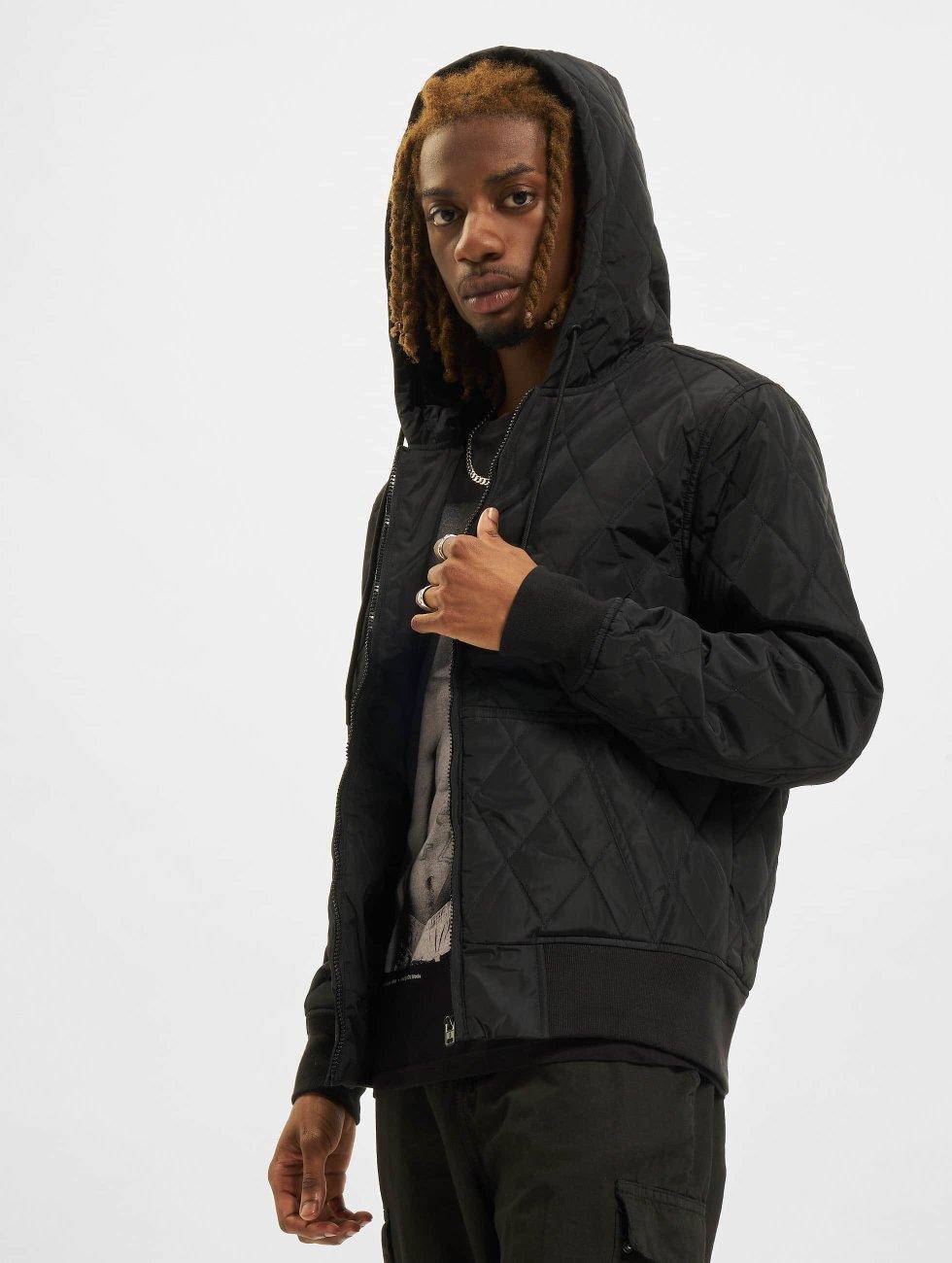 Urban Classics Kurtki przejściowe Hooded Big czarny