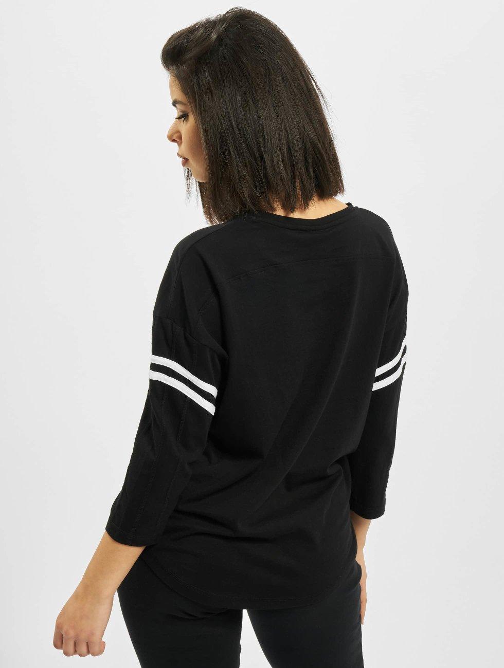 Urban Classics Longsleeve Sleeve Striped zwart