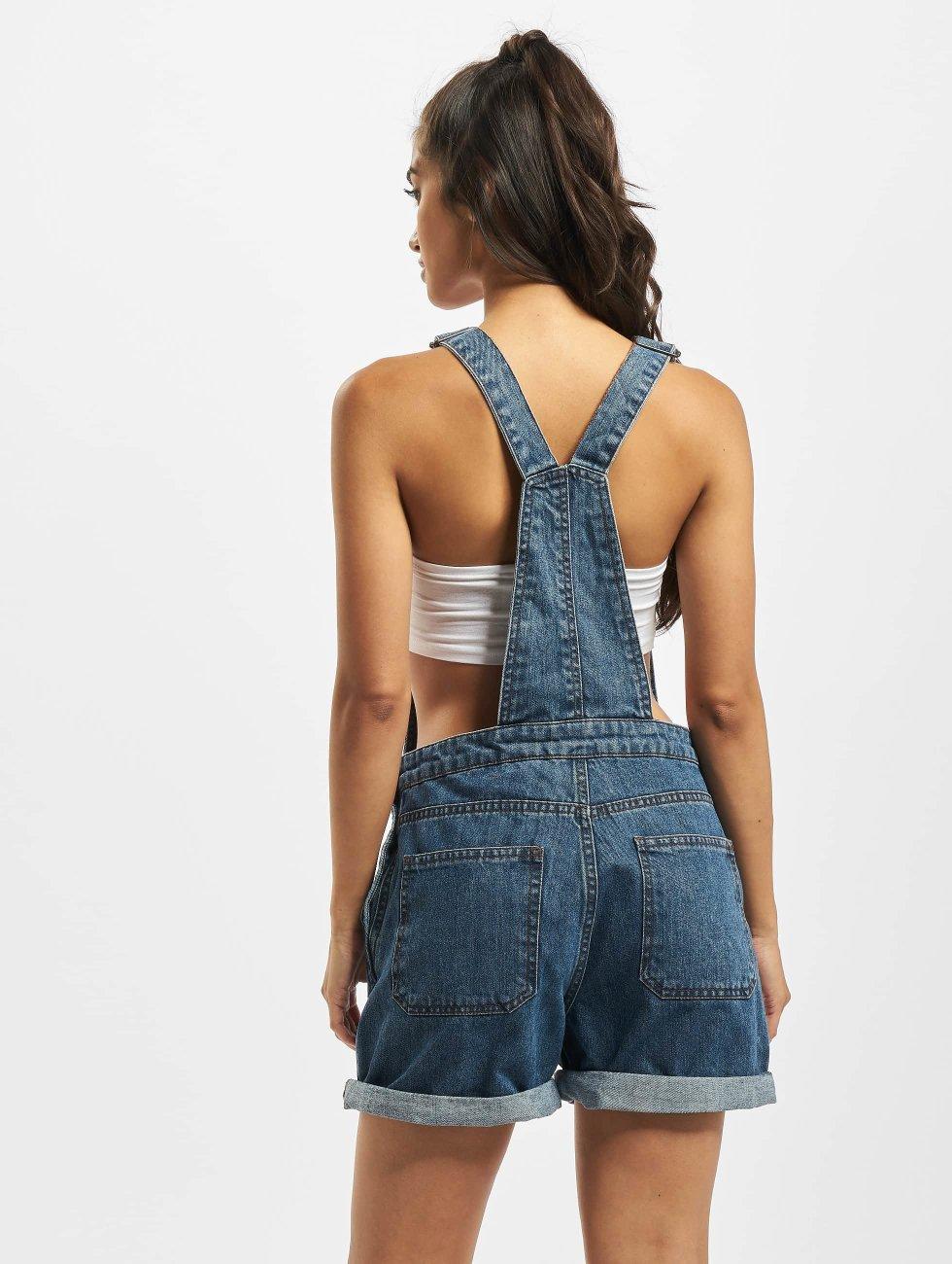 Urban Classics Nohavice na traky Ladies Short modrá