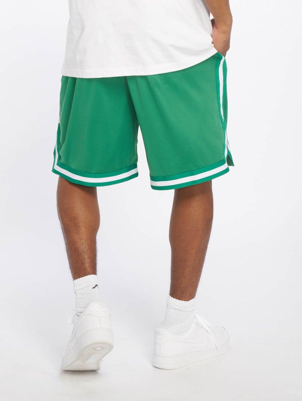 Urban Classics shorts Stripes Mesh groen
