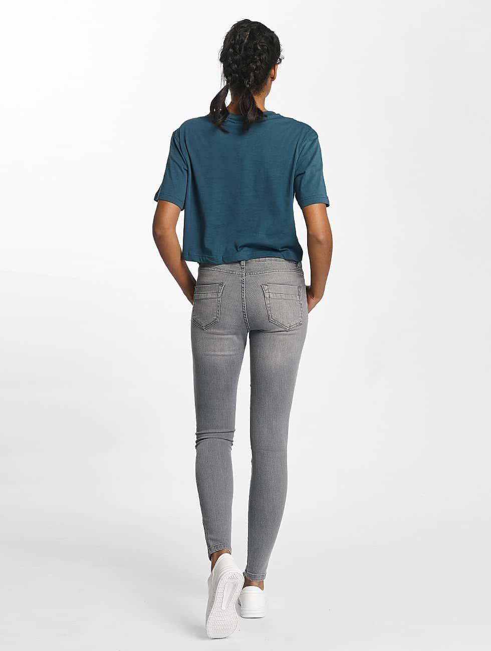 Urban Classics Skinny Jeans Skinny Denim szary