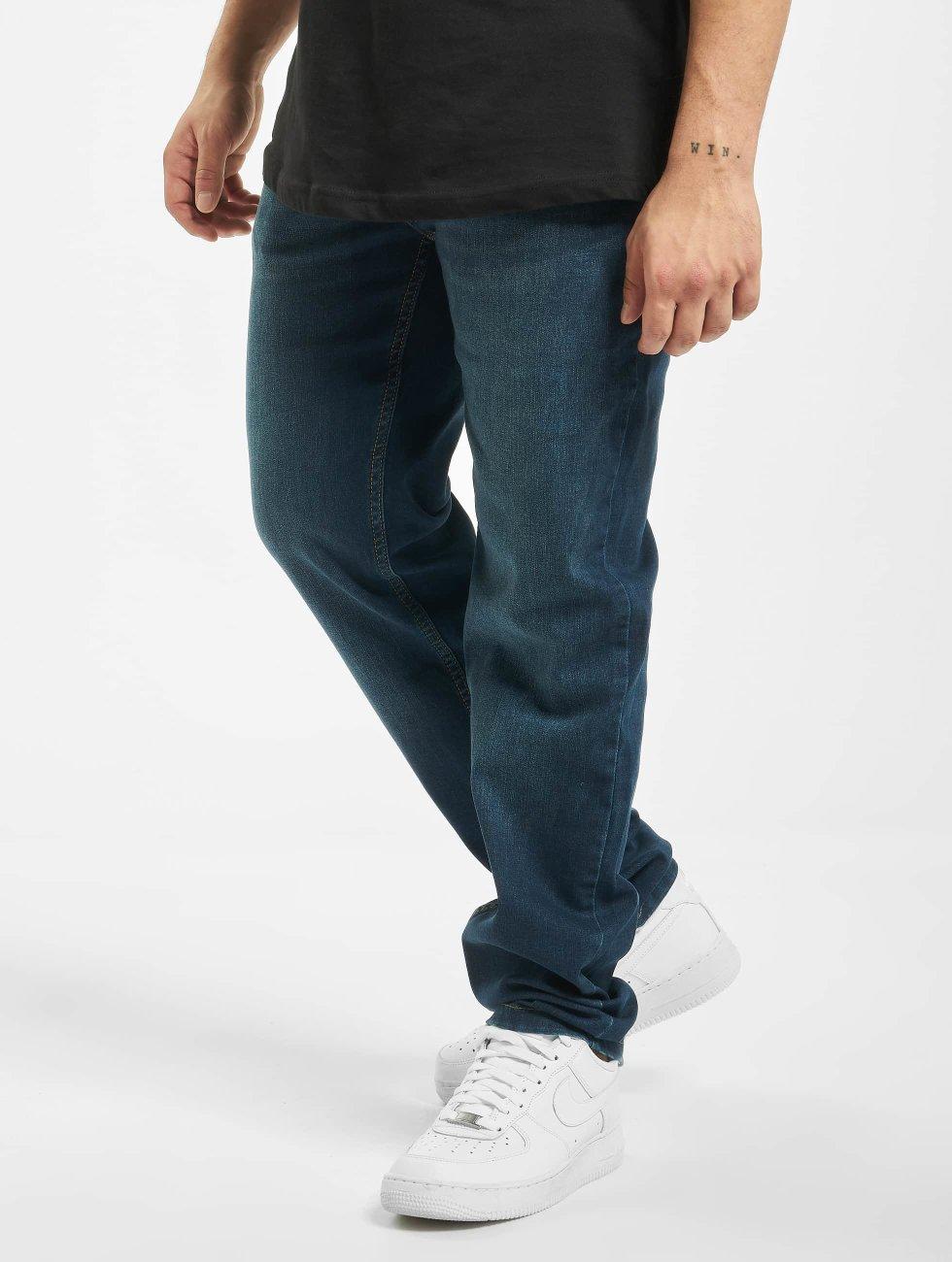 Urban Classics Straight Fit Jeans Stretch Denim blau