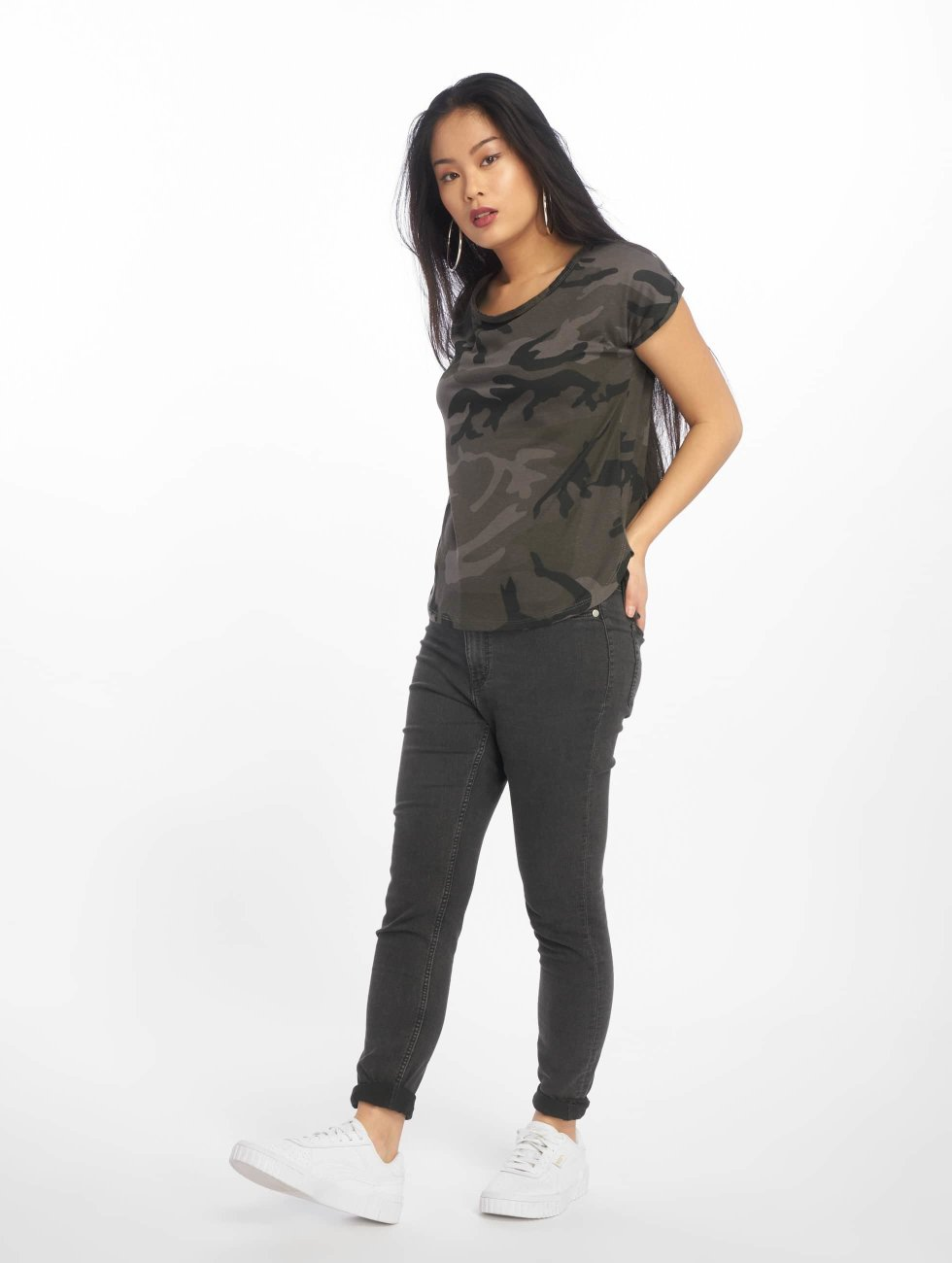 Urban Classics T-paidat Camo Back Shaped camouflage