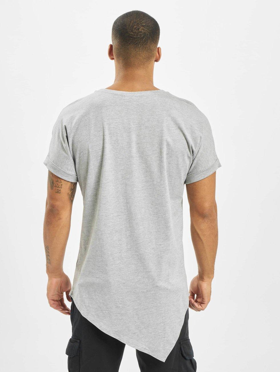 Urban Classics T-paidat Asymetric Long harmaa