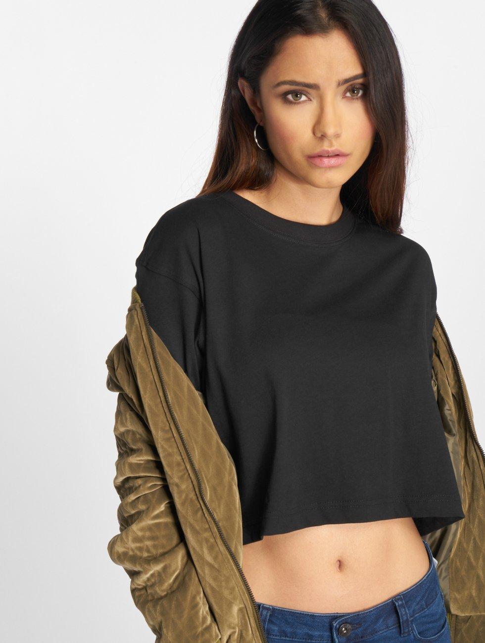 Urban Classics T-Shirt Ladies Oversized Short black