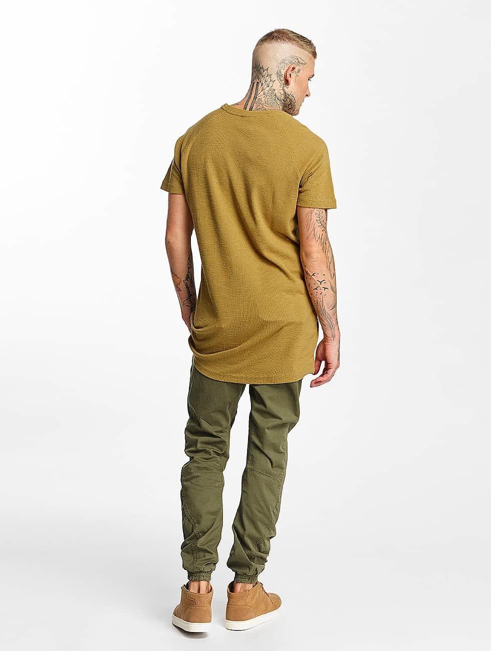 Urban Classics t-shirt Thermal Slub Raglan bruin