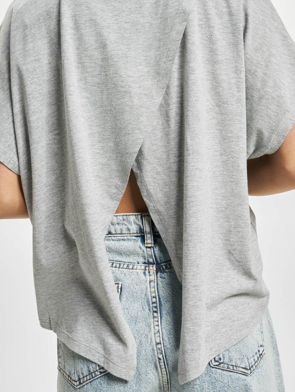 Urban Classics T-Shirt Overlap Turtleneck grey