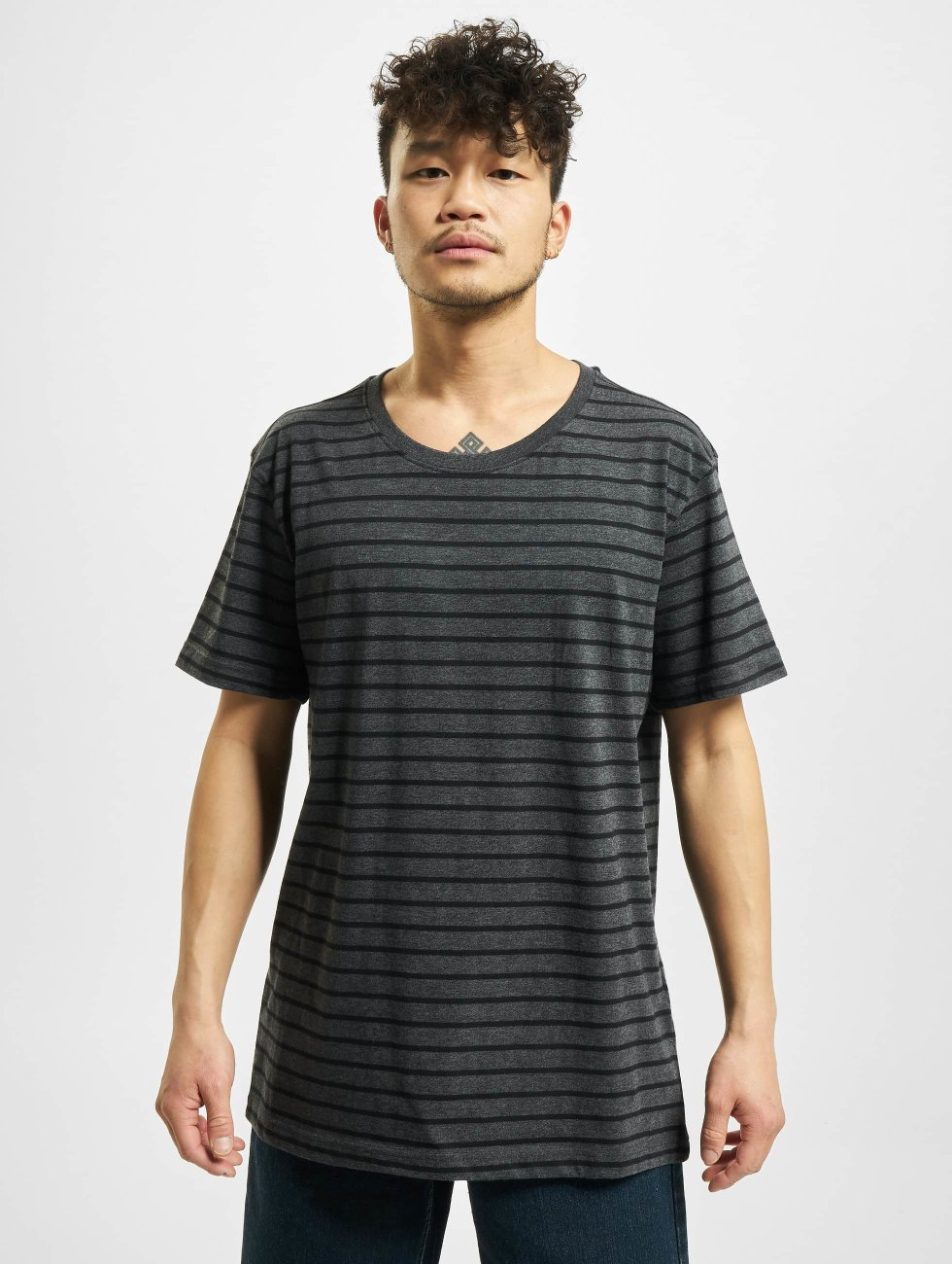 Urban Classics T-Shirt Striped grey