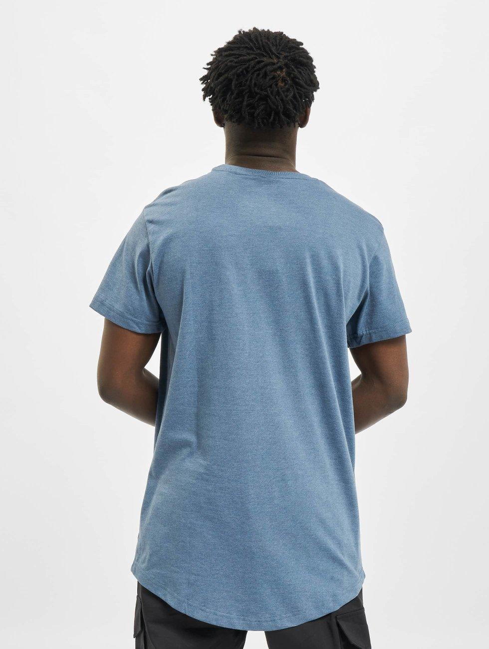 Urban Classics Tall Tees Shaped Melange Oversized Long blå
