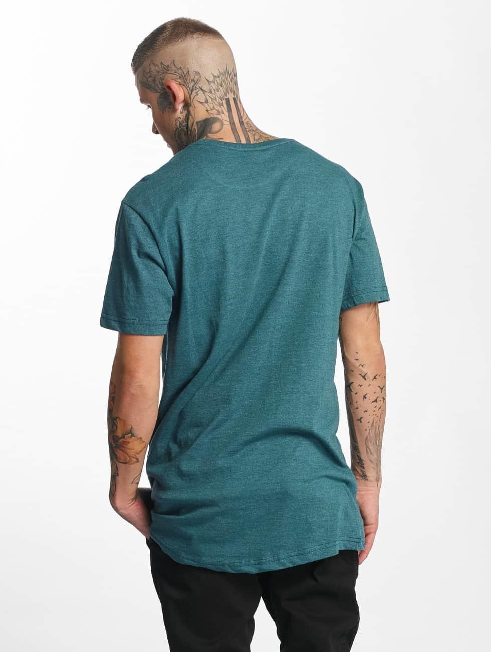 Urban Classics Tall Tees Shaped Melange Oversized Long turquois