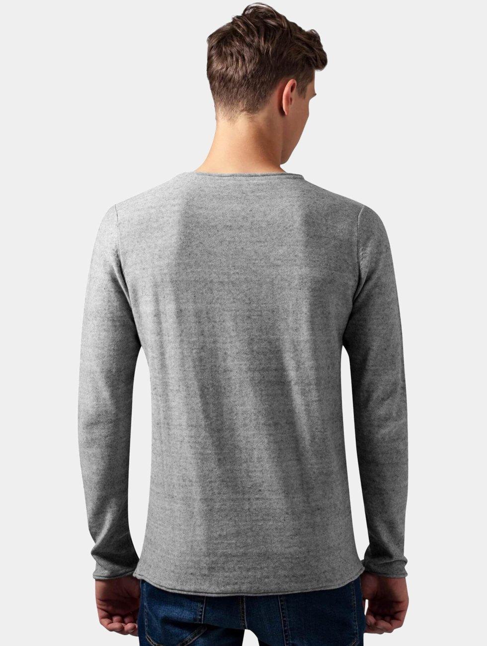 Urban Classics trui Fine Knit grijs